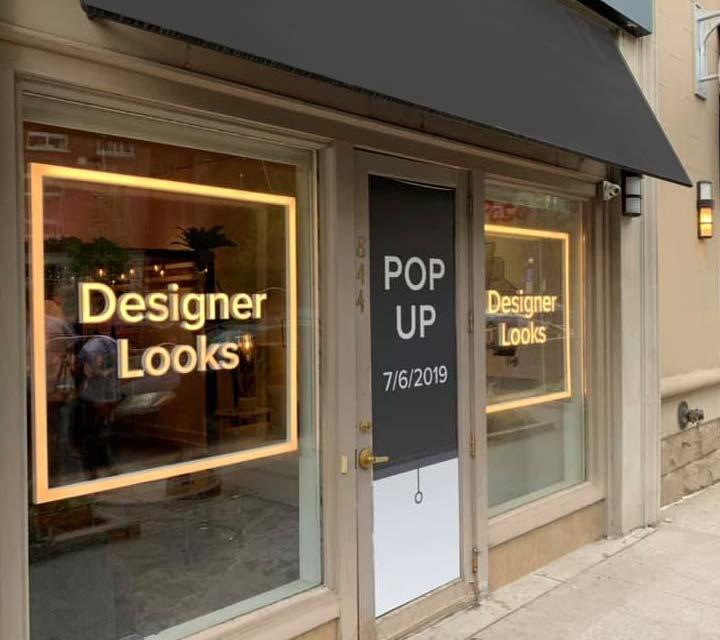 value city furniture - designer looks pop-up shop storefront