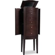 abbie dark brown jewelry armoire