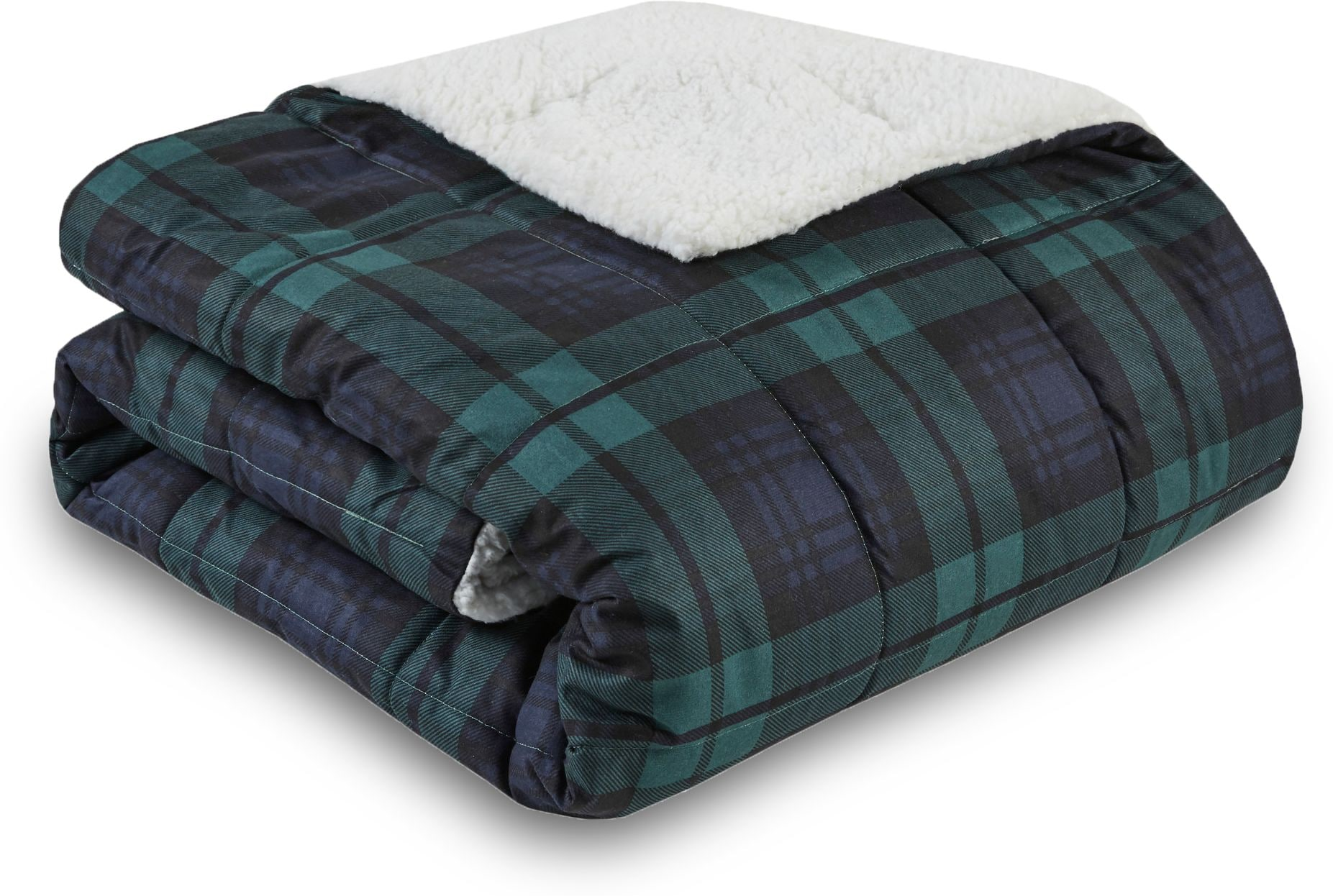 Accent and Occasional Furniture - Acadia Plaid Sherpa Throw