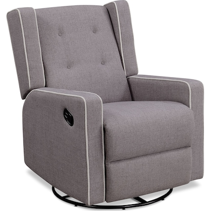 Adeline Manual Reclining Swivel Chair - Light Gray