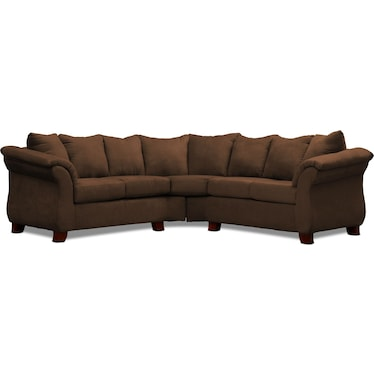 Adrian 2-Piece Sectional - Chocolate