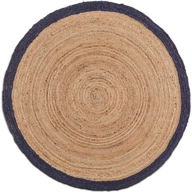 Rugs - Afono Round Area Rug - Blue