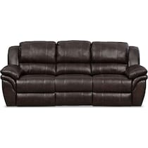 aldo dark brown manual reclining sofa