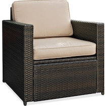 aldo dark brown outdoor chair