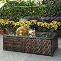 aldo dark brown outdoor coffee table