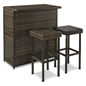 Aldo Outdoor Bar and 2 Stools