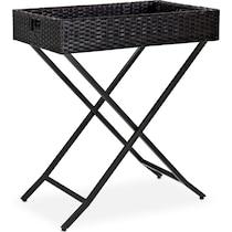 aldo dark brown outdoor end table