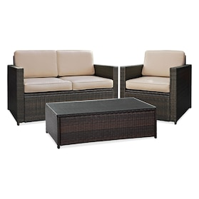 Aldo Outdoor Loveseat, Chair and Coffee Table Set