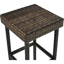 aldo dark brown outdoor stool