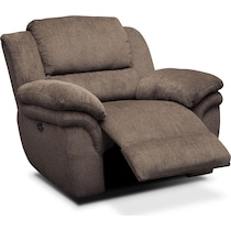 aldo dark brown power recliner