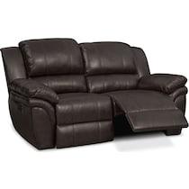 aldo dark brown power reclining loveseat