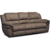 aldo dark brown power reclining sofa