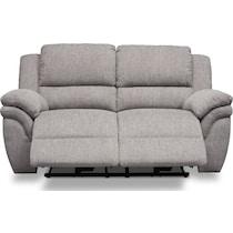 aldo gray manual reclining loveseat