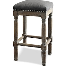 alexandria gray bar stool
