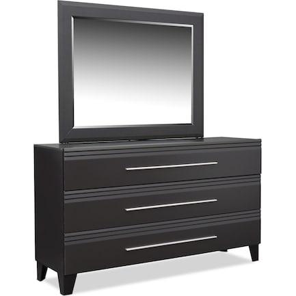 Allori Dresser and Mirror - Black