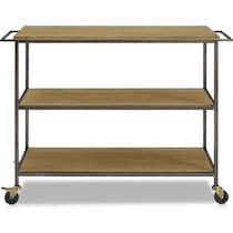 alva light brown kitchen cart