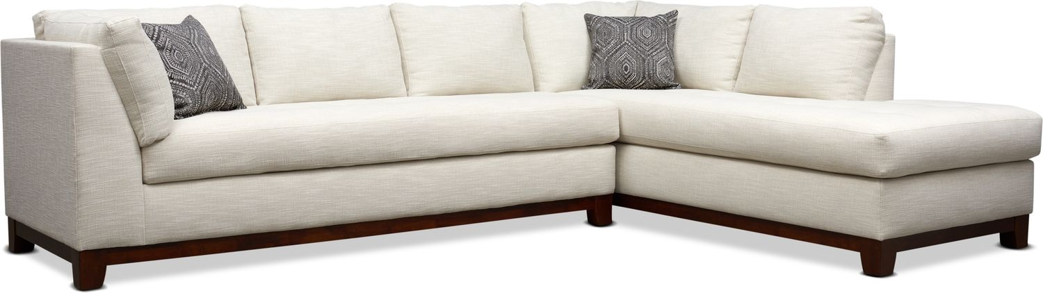 Living Room Furniture - Anderson 2-Piece Sectional with Chaise