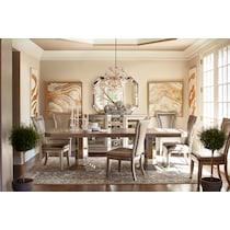 angelina dining metallic dining table