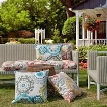 aquata blue outdoor pillow