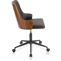 archie black and walnut office chair
