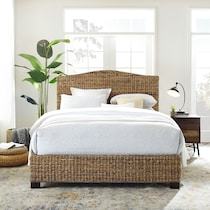 aria dark brown queen bed