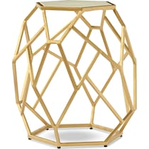 aria gold accent table