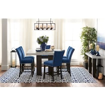 artemis counter height blue  pc counter height dining room