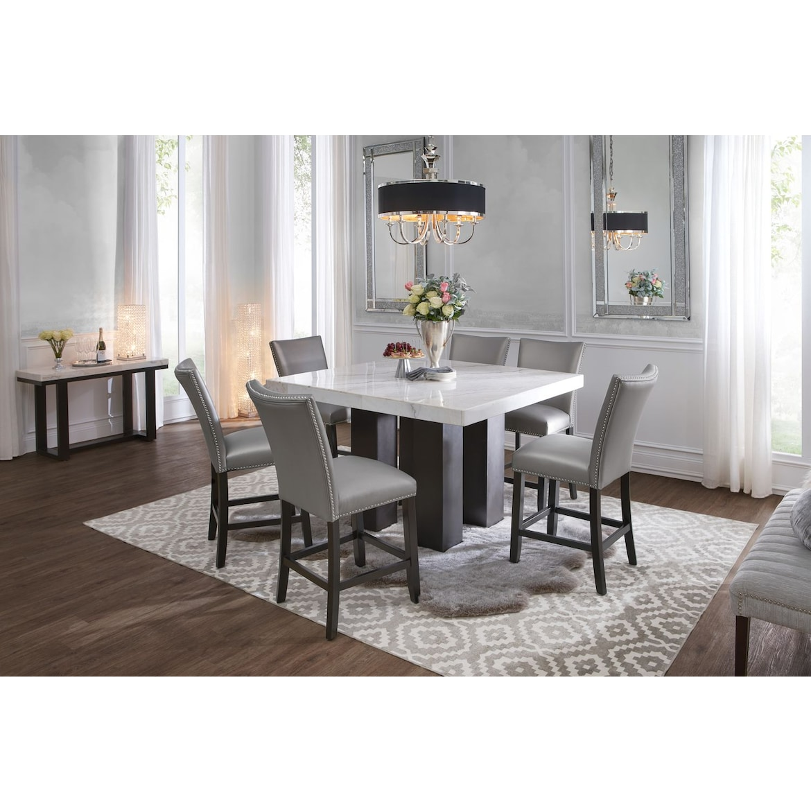 Marble Counter Height Dining Table