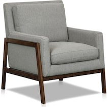 asher gray accent chair