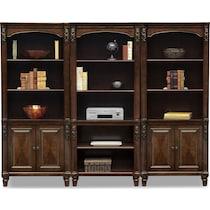 ashland dark brown bookcase