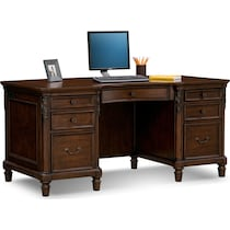 ashland dark brown executive desk