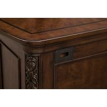 ashland dark brown executive desk