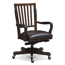 ashland dark brown office chair