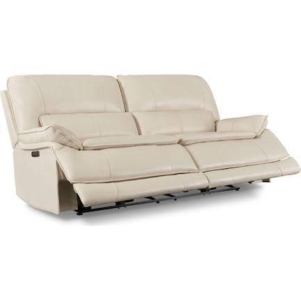 Aston Dual-Power Reclining Sofa - Ivory