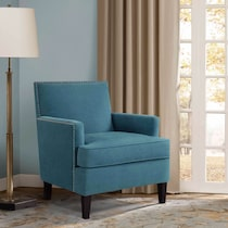 astrid blue accent chair