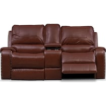 austin dark brown power reclining loveseat