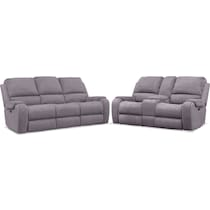 austin gray  pc power reclining living room