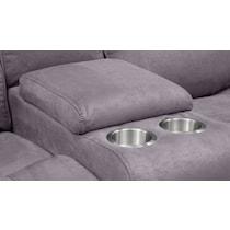 austin gray power reclining loveseat