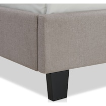 autumn gray queen upholstered bed