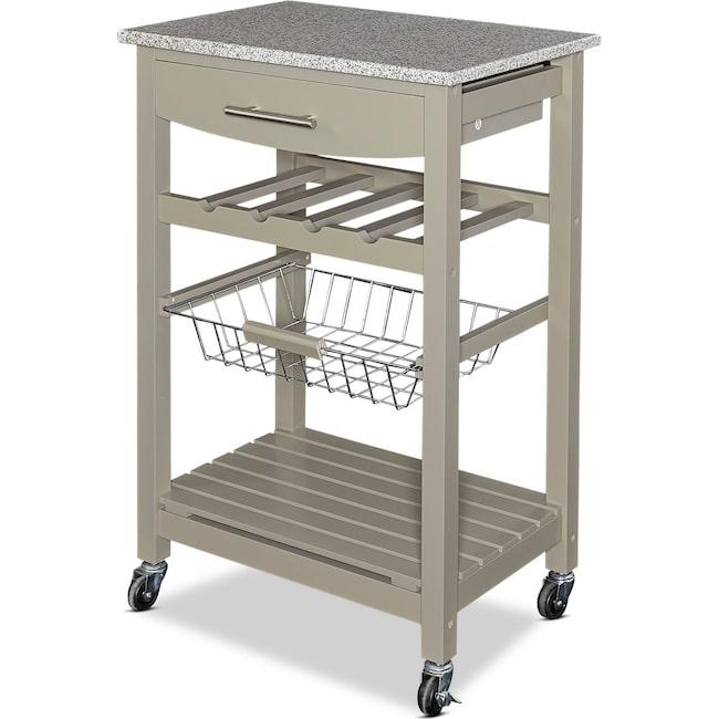 Accent and Occasional Furniture - Avon Granite Kitchen Cart