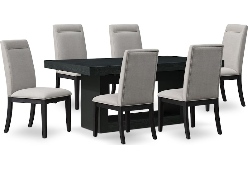 banks black and gray  pc dining room