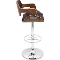 bari dark brown bar stool