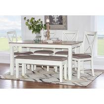 bassett white  pc dining room