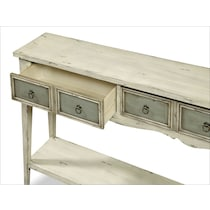 baylee antique white and gray console table