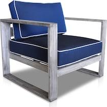 beach club blue outdoor chair