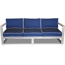 beach club blue outdoor sofa