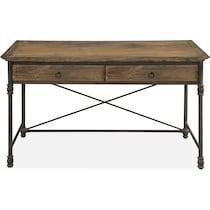 bedford home office light brown desk