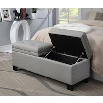 bella marmor gray storage bench