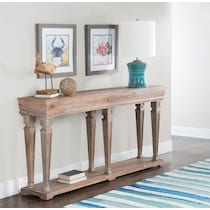 benji dark brown console table