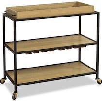 bernard light brown bar cart